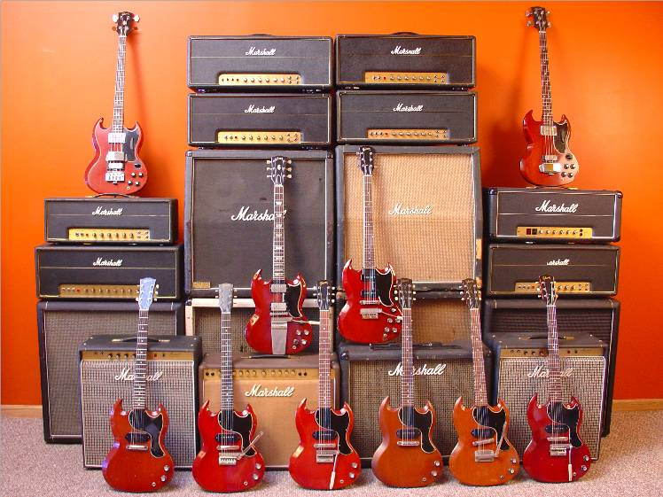SG Collection with Marshall Amps