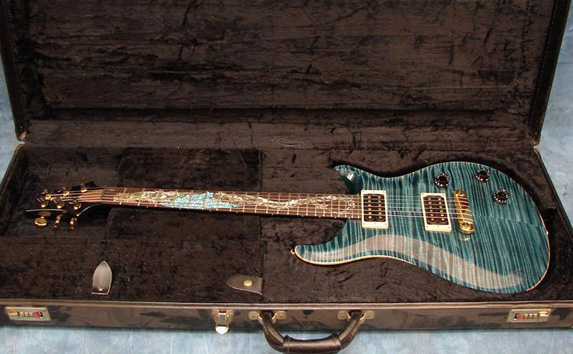 prs dragon #1 with neck dragon inlay work